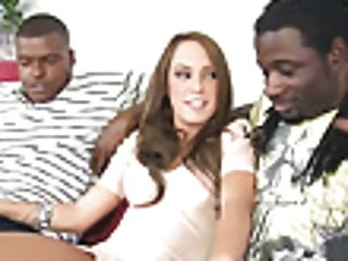Haley Sweet Attempts Dual Foray With Big Black Cock