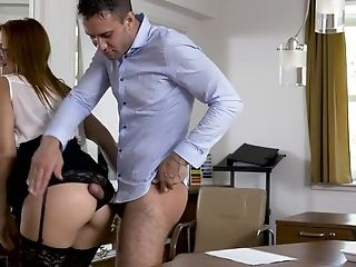 Matures Secratery Eva Berger In Undergarments Having Fuck-fest With Her Chief