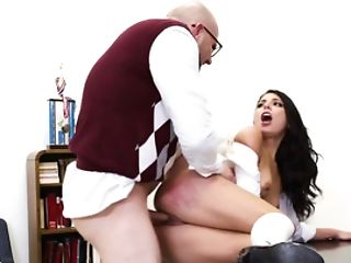 Professor Penalizes Two Bad Shoolgirls In The Classroom