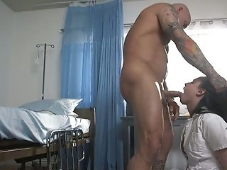 Sexy Nurse Casey Calvert Is Tied Up And Fucked By Bald Headed Patient