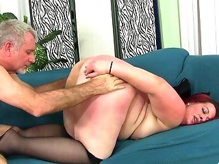 Matures Chubby Buxom Ginger-haired Phoenix Gets Her Fat Booty Pounded