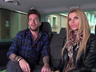 Lengthy Haired Blonde Mummy Karina Fuckbox Creampied In A Car