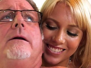 Blonde Chick Chanel Grey Gets Spoke Into Fucking With An Older Dude