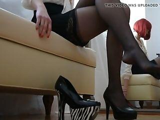 Stockings And High Stilettos