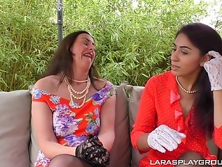 Sahara Knite Gets Her Shaven Matures Puss Ate And Frigged