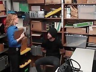 Big-boobed Manager Fucks Thief