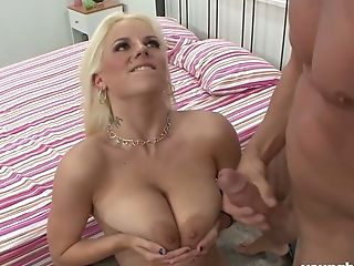 Immense Titted Haley Cummings Spreads Gams To Take Dick In Her Coochie