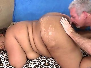 Black Bbw Peaches Love Bounces On A Dick