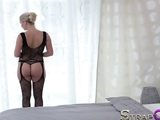 Crazy Adult Movie Star In Exotic Faux-cocks/playthings, Blonde Adult Movie