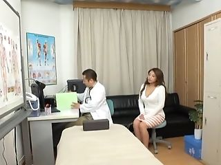 Pretty Japanese Damsel Pleases A Dude By Playing With His Dick