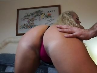 Blonde Matures Huge-chested Cougar Rebecca Gets Her Clean-shaved Cunt Pounded Rear End