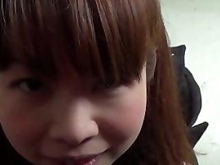 Asian Cutie Touches Vag