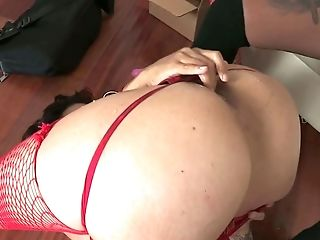 Sexy Lezzie Chick Dana Vespoli Gets Her Fuck-holes Toyed